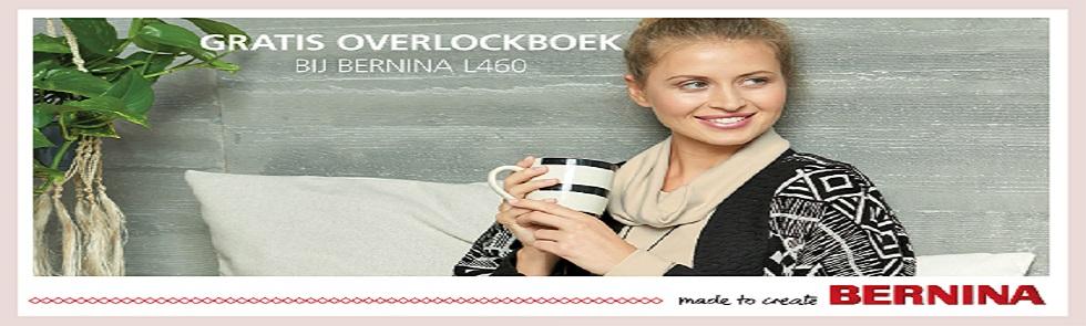 Lockmachine boek kado bij Bernina L460