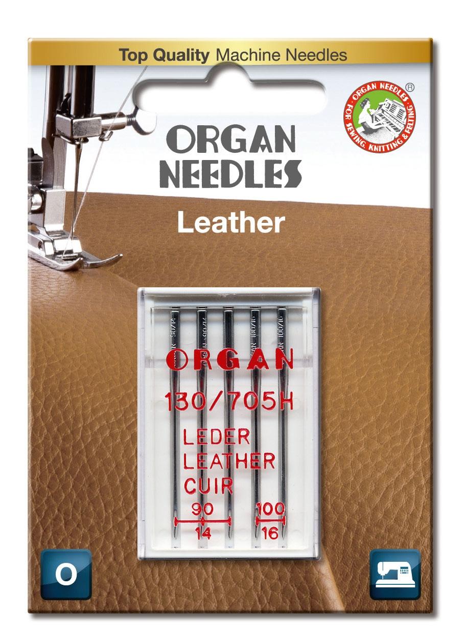 Naaimachinenaald 130-705 H-LL leer Organ
