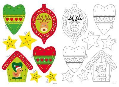 Borduurkaarten kersthangers