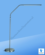 Daylight Slimline Vloerlamp Brushed Chrome