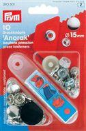 Drukknopen Anorak 12 -15mm