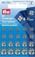 Aannaaidrukknopen assorti 6 - 11mm