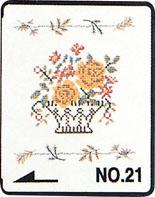 Brother borduurkaart Naaldwerk - kruissteekmotieven