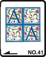 Brother borduurkaart Renaissance alfabet