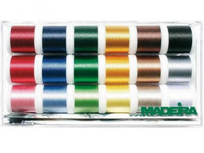 Madeira garen box 18 kleuren