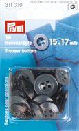 Knopen voor Pantalons 15 - 17mm assorti