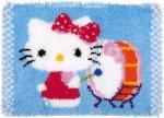 Hello Kitty speelt op trom