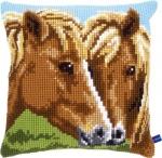 Kussen bruine paarden