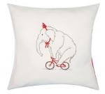 Kussen olifant op fiets