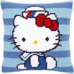 Kussen hello kitty in marine