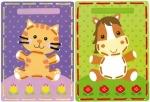 Borduurkaarten poes en pony