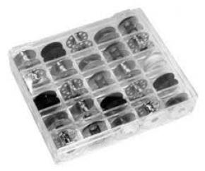 Spoelendoosje transparant voor 25 stuks