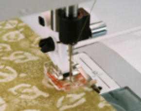 Transparante patchworkvoet met geleider rechts Husqvarna Viking