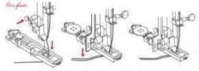 Automatische Knoopsgatvoet R,Janome