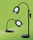 LED Vloerlamp met Loep Zwart