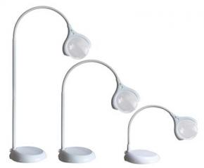 Vloer en tafel loep lamp wit