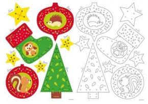 Borduurkaarten kersthanger
