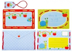 Borduurkaarten uitnodiging appels