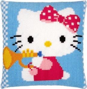 Kussen Hello Kitty met trompet
