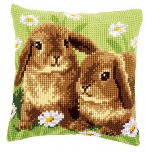 kussen twee konijnen